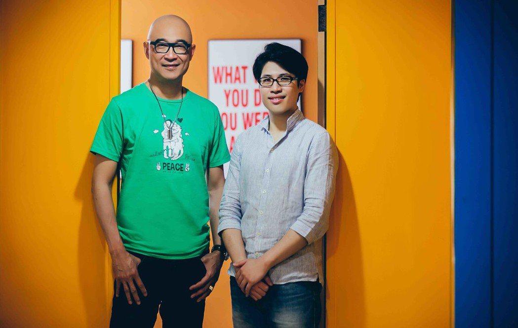 王治平與「盛情款待」導演陳鈺杰(右)一起接受KKBOX專訪。圖/KKBOX提供
