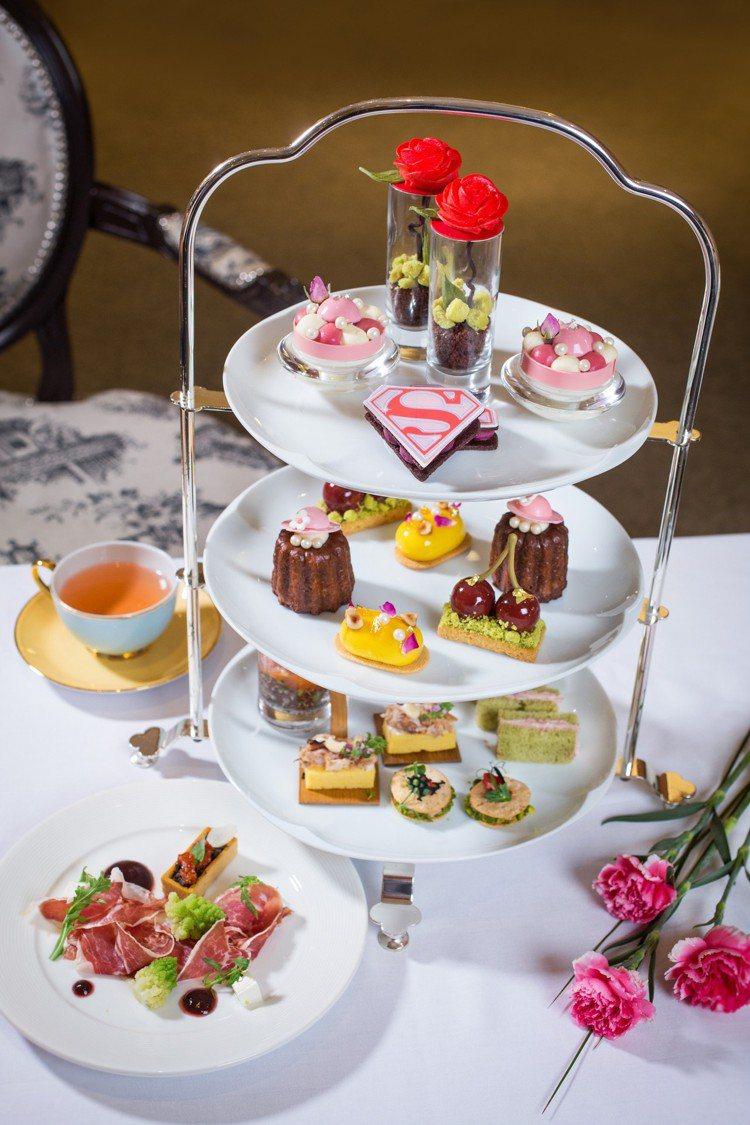 「女力萬歲」下午茶套雙人套餐,每套1680元+10%。圖/台北君悅酒店提供