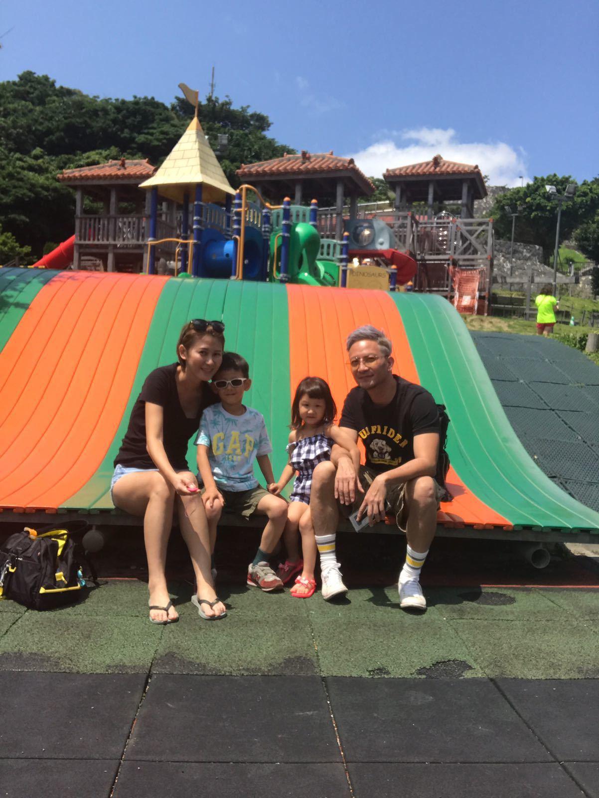 高山峰一家四口日前到沖繩旅遊。圖/艾迪昇提供