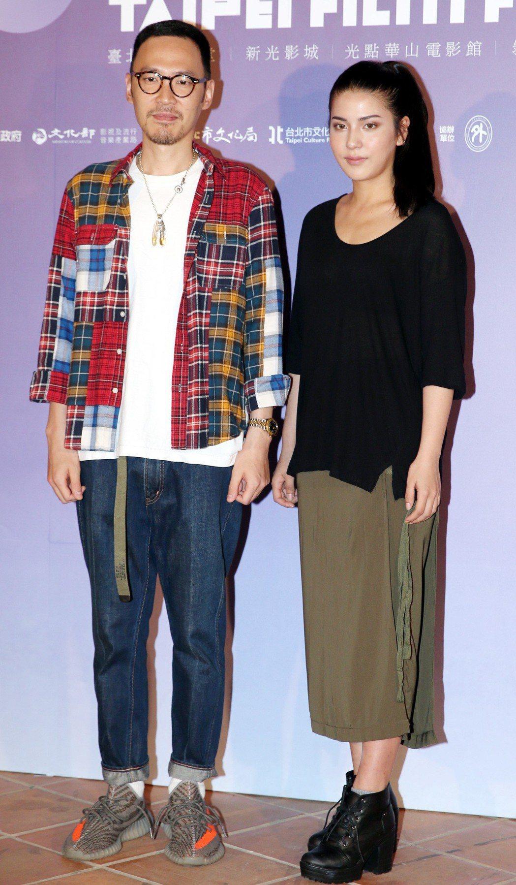 2018台北電影節形象廣告演員張少懷(左)與雷婕熙(右)出席發布會。記者侯永全/...