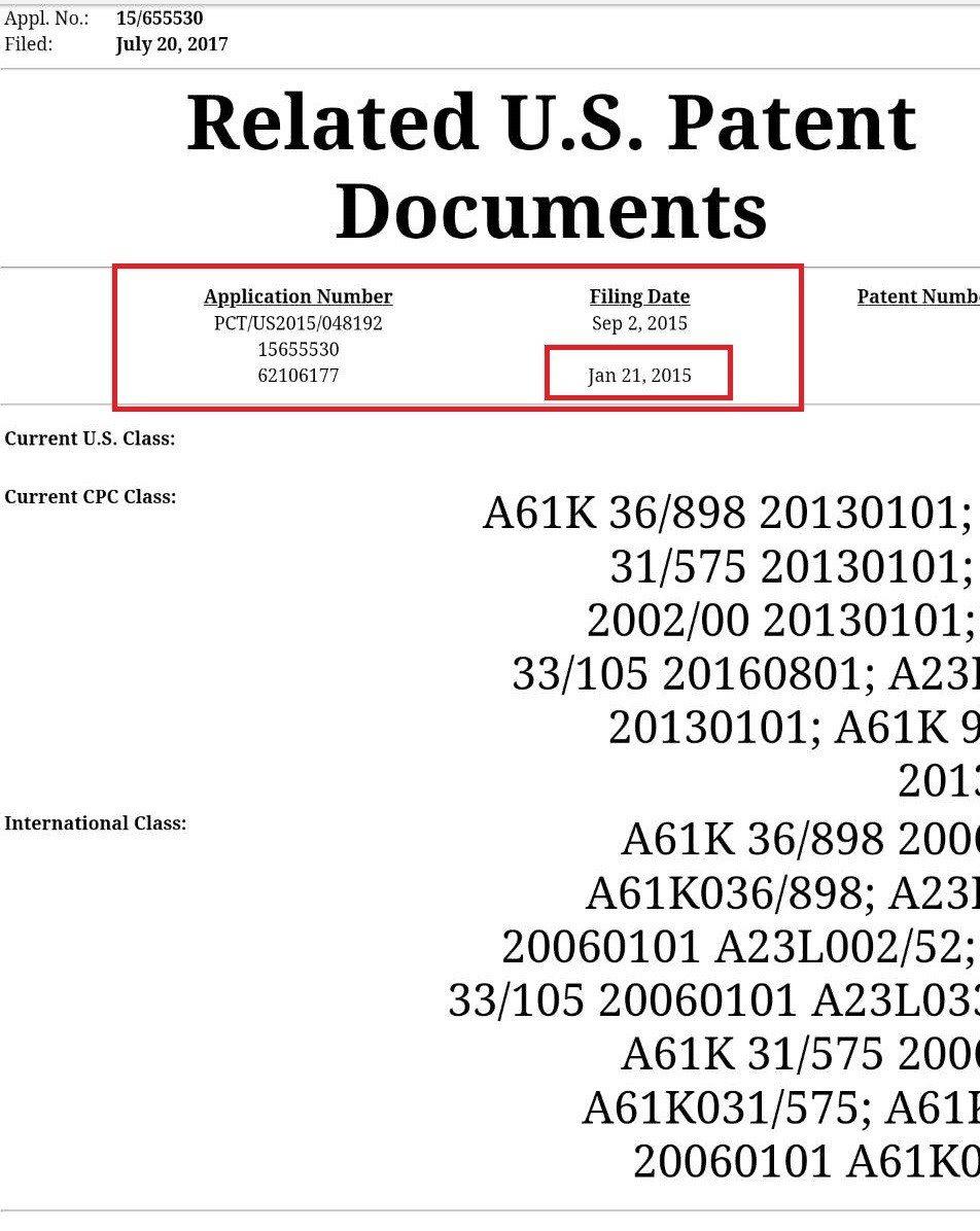 2015年1月21日是臨時申請案日期。圖/擷取自世界智財組織PCT資料庫