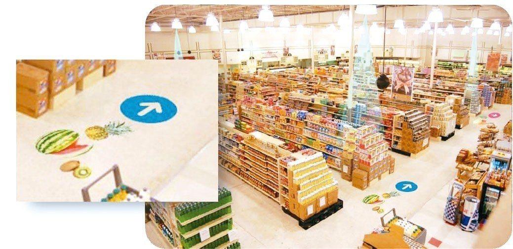 AI智慧照明應用在無人超市。 圖/陸普提供