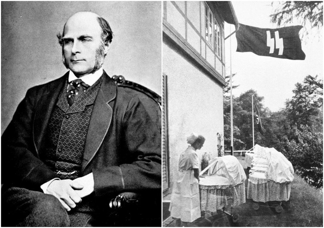 發明「優生學」一詞的英國學者高頓(左),長期推廣優生學思想,以期能像「家畜配種」...