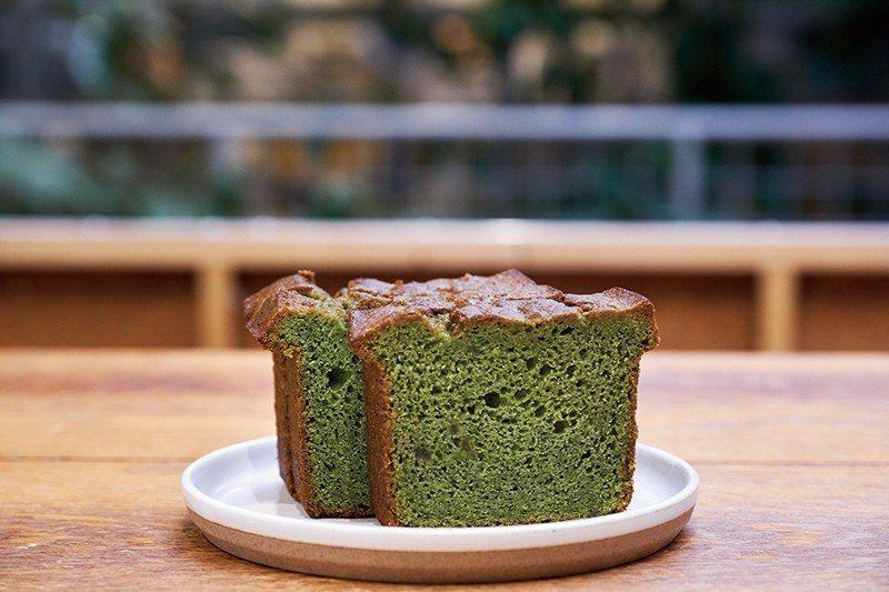 綠茶檸檬磅蛋糕也是京都風情十足的獨特餐點。
