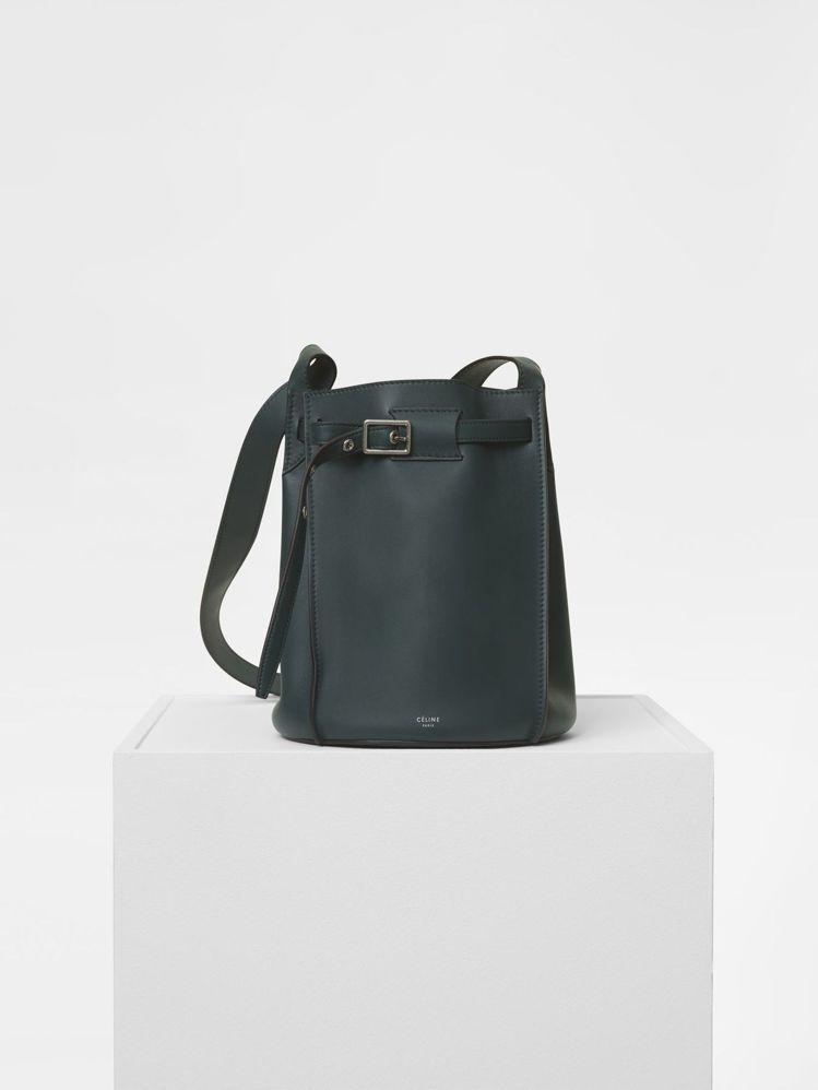 Big Bag Bucket亞馬遜綠小牛皮肩背包,售價70,000元。圖/CÉL...