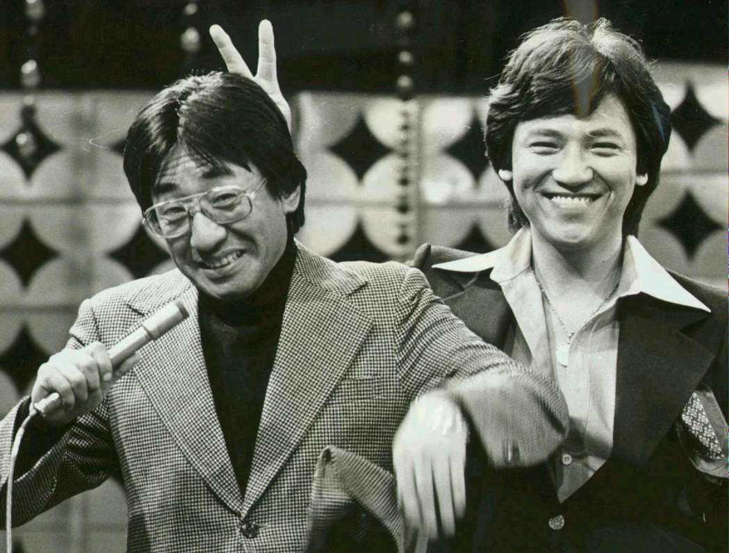 1982年時的孫越(左)與陶大偉。圖/聯合報系資料照