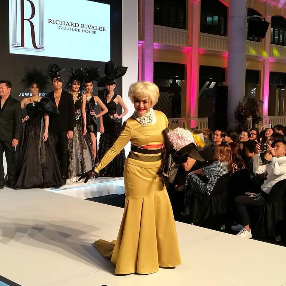 馮寶寶參與檳城時尚周走秀。圖/摘自臉書