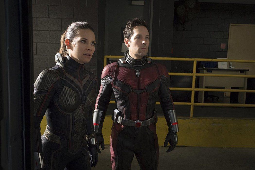 「蟻人與黃蜂女」男女主角間的對手戲也是一大看點。圖/摘自imdb
