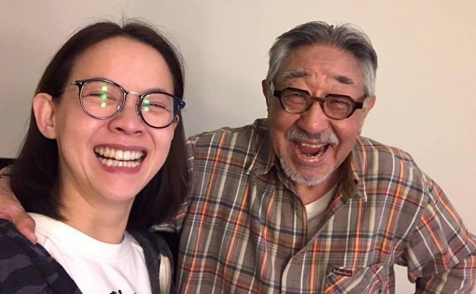 曾寶儀(左)和孫越是忘年之交。圖/摘自曾寶儀臉書