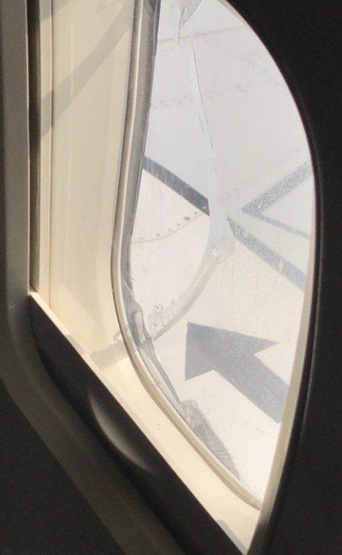 西南航空班機957飛機今天遇破窗緊急降落事件。圖/截取自推特