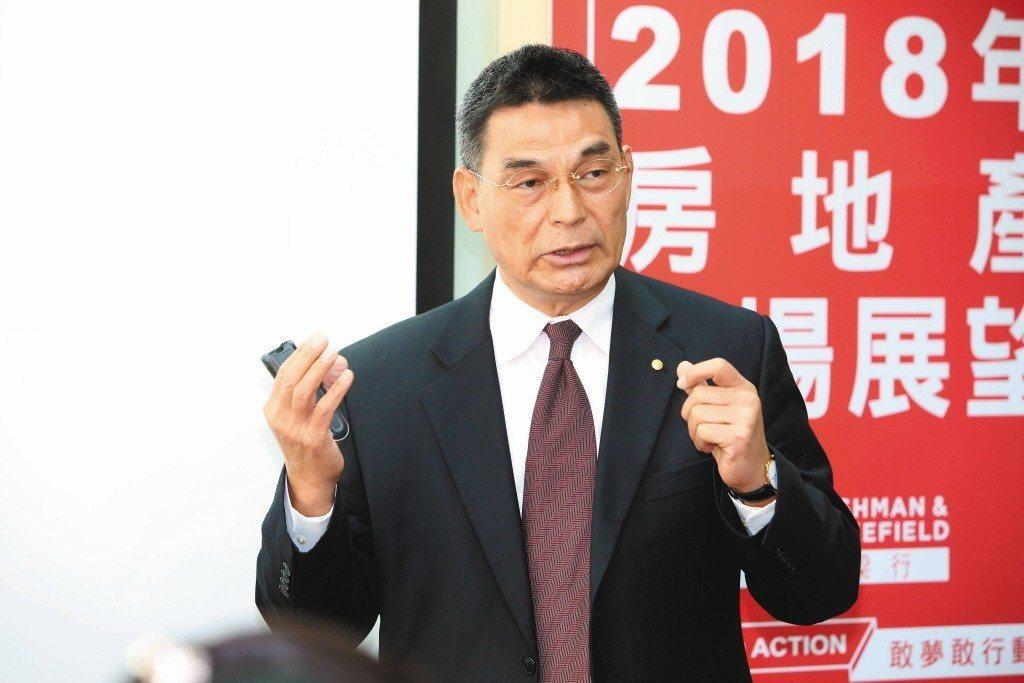 戴德梁行董事總經理顏炳立認為,2018年房市還不會落底,估計2019年落底後再盤...
