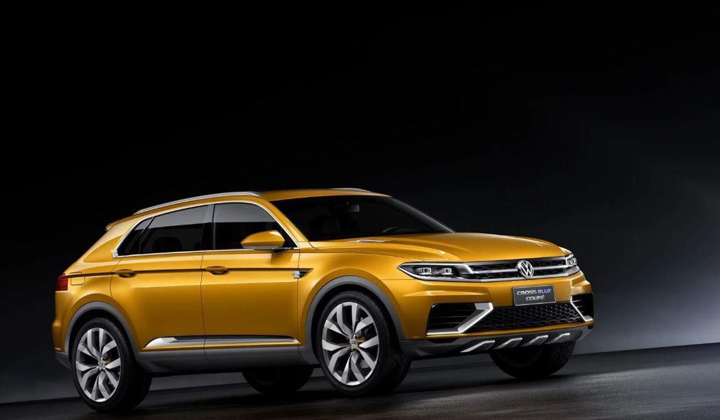 2013 Volkswagen CrossBlue Coupe概念車。 摘自Volkswagen