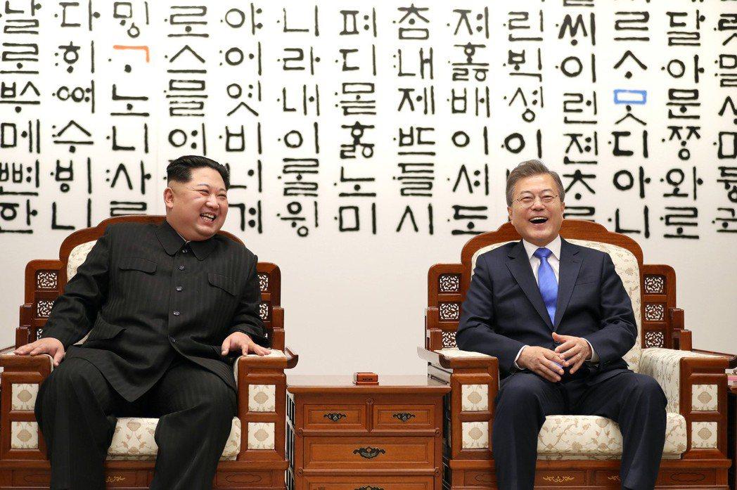 「總之,希望總統先生能享用我帶來的冷麵。」 圖/兩韓峰會共同採訪團