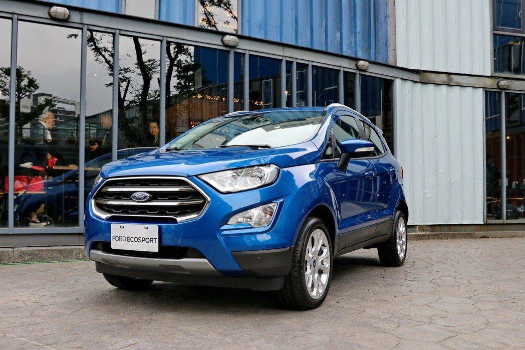 Ford EcoSport小改款車型。 記者陳威任/攝影