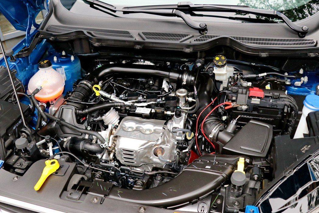 獲獎無數的EcoBoost 125渦輪增壓引擎。 記者陳威任/攝影
