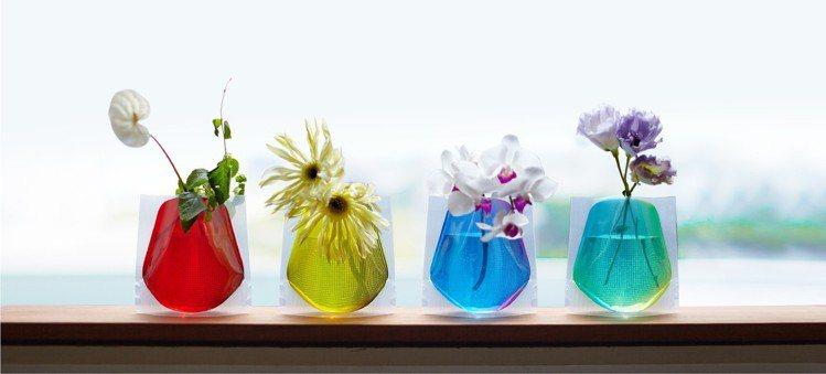 台隆獨家日本製D-BROS高質感摺疊花瓶2入,售價580元,特價520元。圖/台...