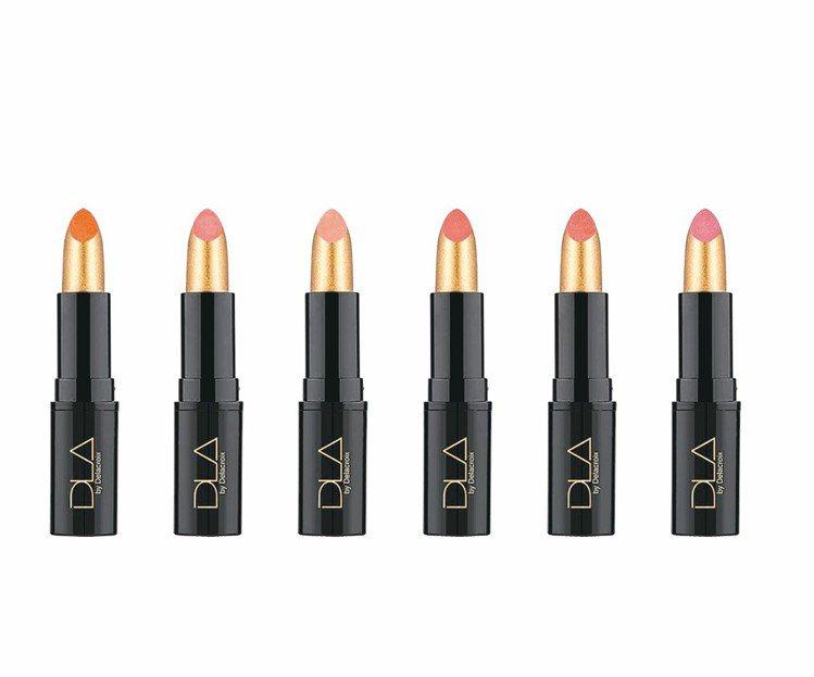DLA微金屬光感唇膏,售價800元,共6色。 圖/業者提供