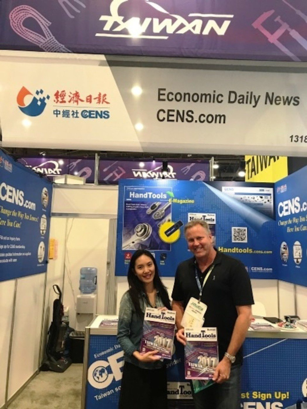 2017全美五金展經濟日報(CENS)於攤位的產業資訊服務,深獲買家認同。   ...