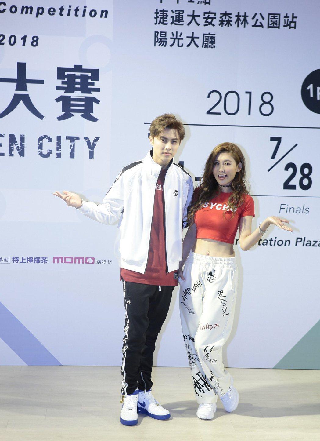王子和愷樂代言「2018捷運盃捷客街舞大賽」。圖/新視紀提供