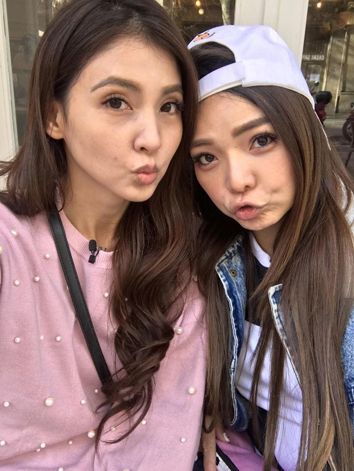 韋汝(左)和小甜甜交好多年,兩人比親姊妹還要好。圖/擷自小甜甜臉書