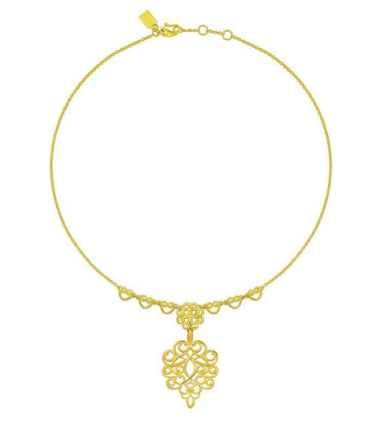 Just Gold「The Lady」女爵系列純金項鍊,84,600元。圖/鎮金...