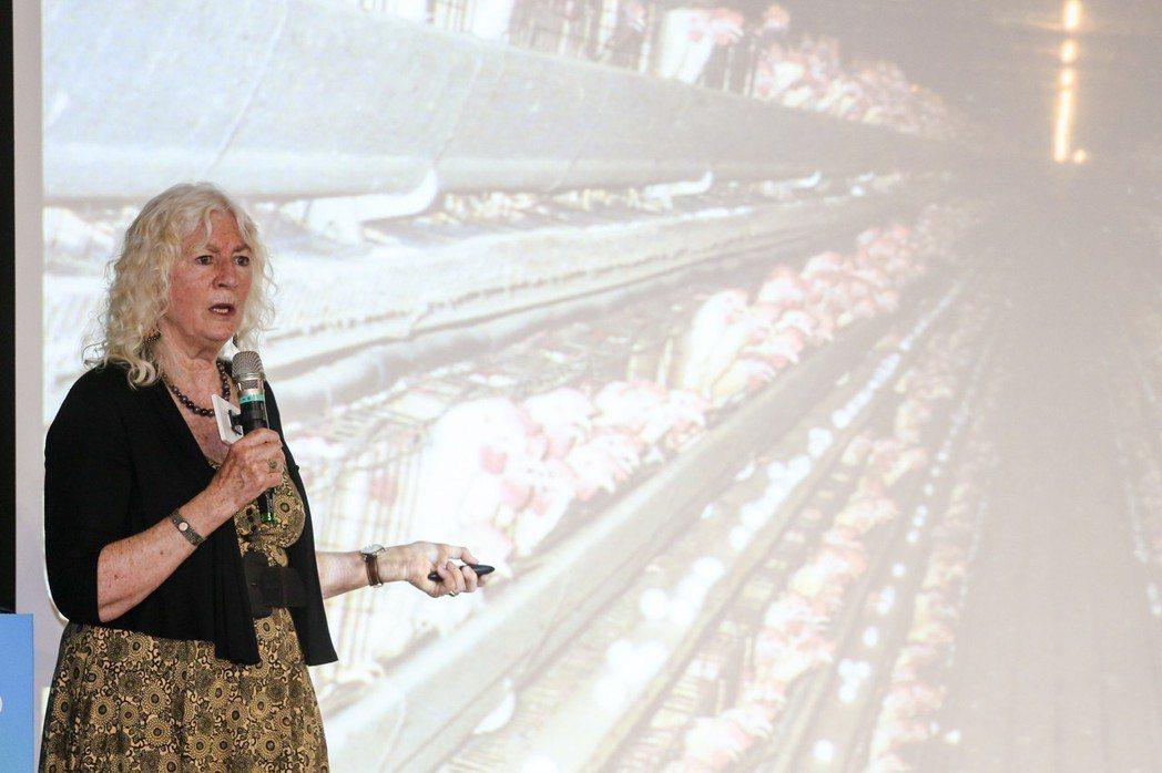 茱蒂威克斯(Judy Wicks)昨於首屆亞太社企高峰會上發表短講。記者鄭清元/...