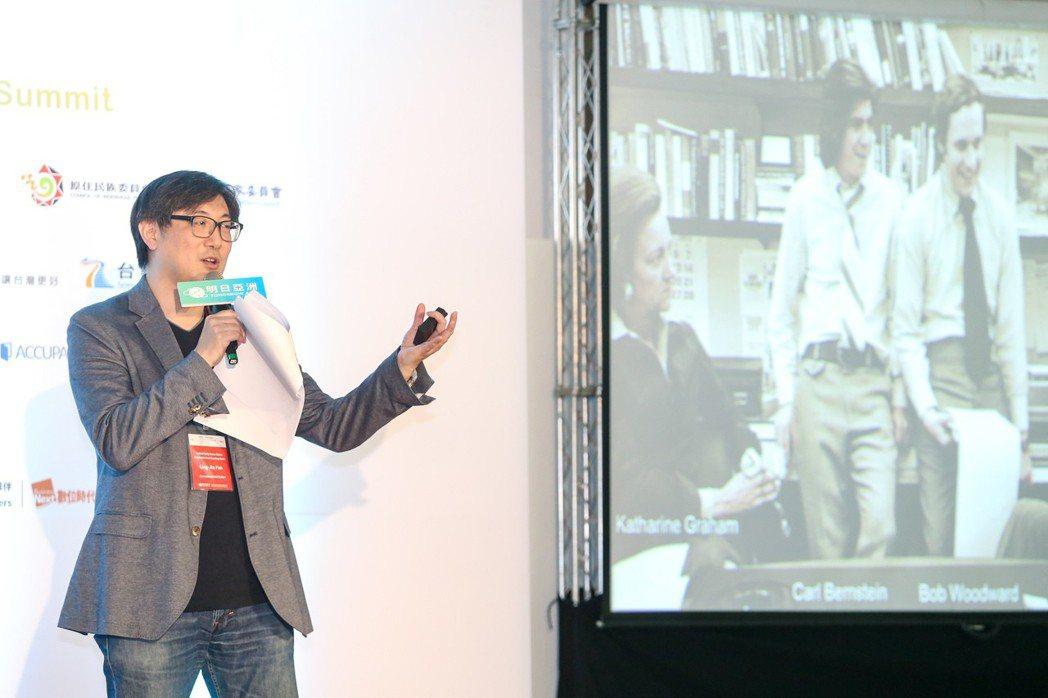 聯合晚報總編輯范凌嘉出席分享如何讓媒體幫助傳播理想。記者鄭清元/攝影