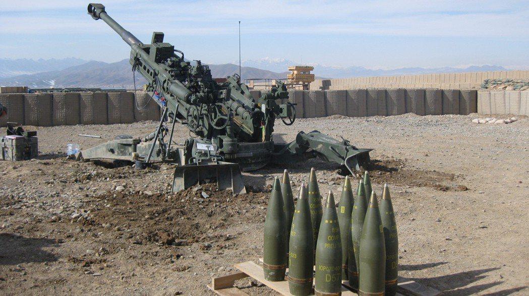 美軍的M777榴彈砲。 圖/引自維基共享資源