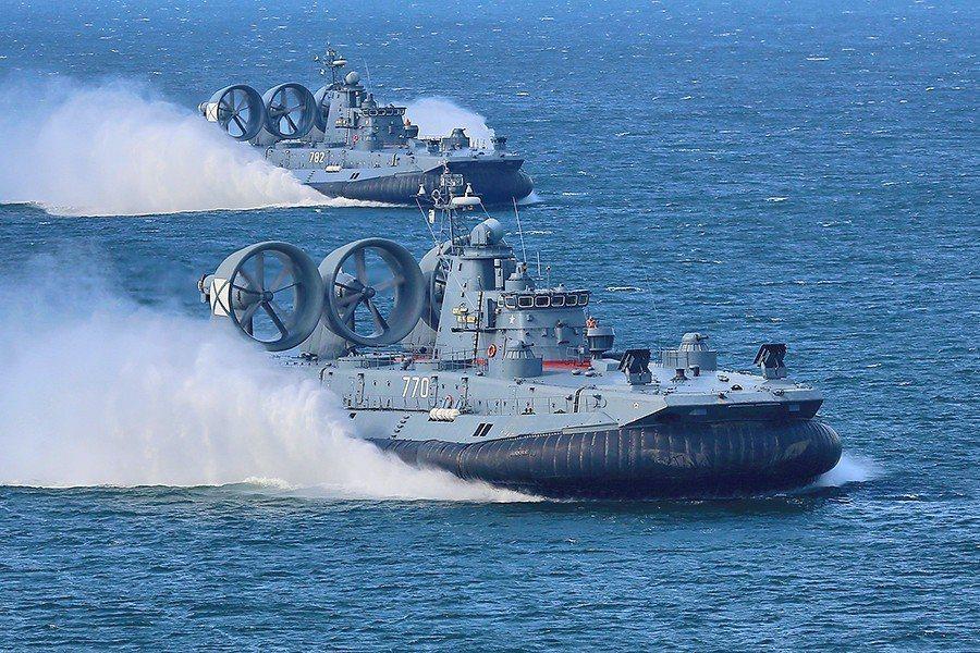 野牛氣墊式登陸艇,共軍現有四艘。 圖/俄羅斯國防部