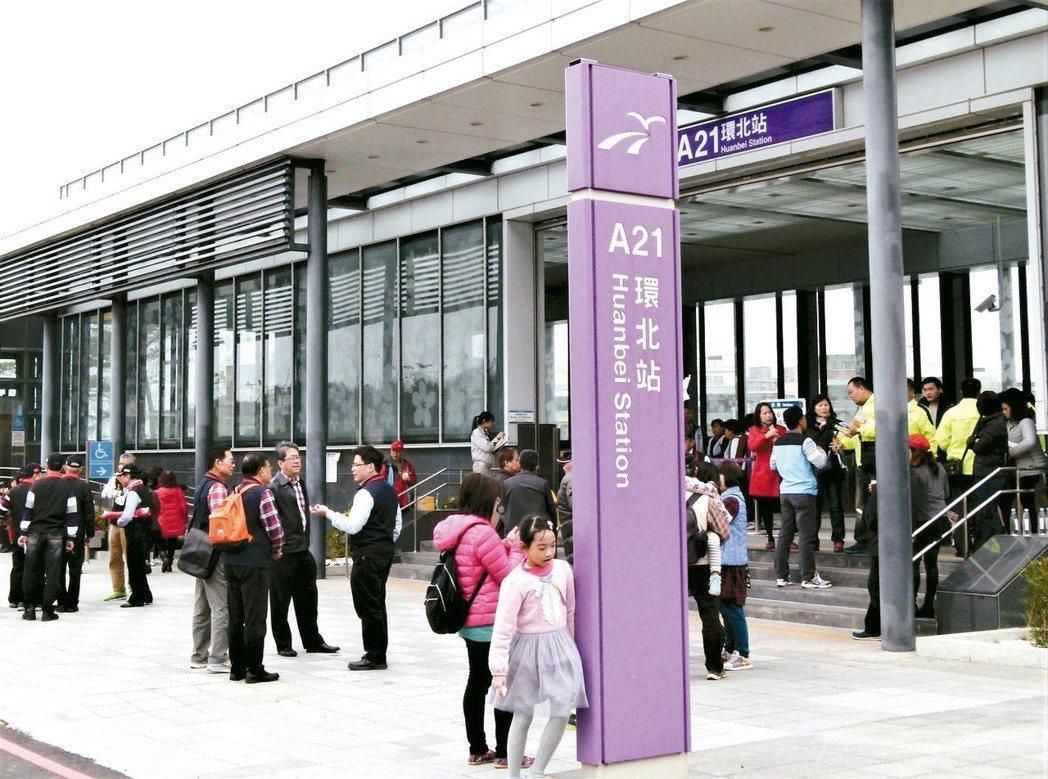 機捷A21環北站是去年機捷各站周邊房屋成交量第一名。 本報系資料庫
