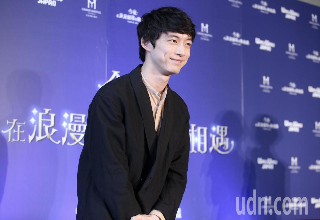 坂口健太郎來台為電影「今夜,在浪漫劇場與妳相遇」宣傳。記者余承翰/攝影