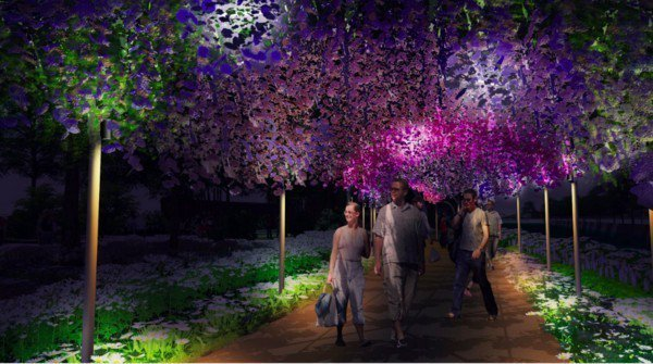 豐原葫蘆墩區的213公尺花廊道。圖/翻攝自台中市政府官網