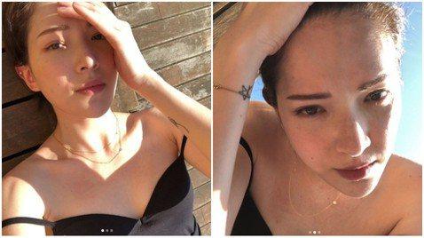 許瑋甯最近轉戰戲劇圈、電影圈皆有成就,相當有才華,打破外界對她只有美貌的迷思,她也不時透過Instagram向網友分享她的生活起居,最近她再度分享私照,不僅露出深V視角微秀美胸,肩帶還滑落,非常性感...