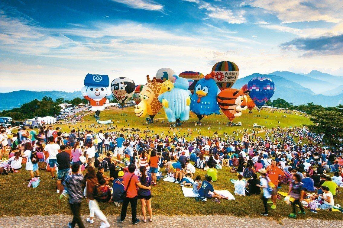 台東縣熱氣球嘉年華從2011年到2017年共吸引遊客達436萬人次,估計創造經濟...