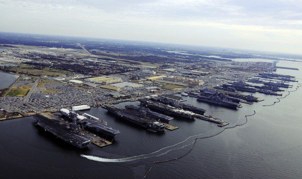 諾福克軍港。 圖/美聯社