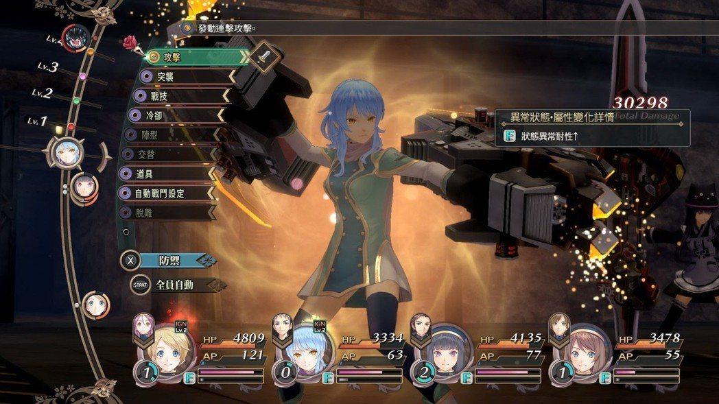 戰鬥系統與《戰機少女》系列大同小異,同樣都能讓人物變身。