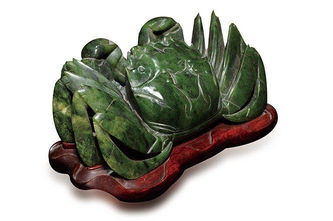 和玉堂洪先生收藏的新疆碧玉,定價約48萬台幣。