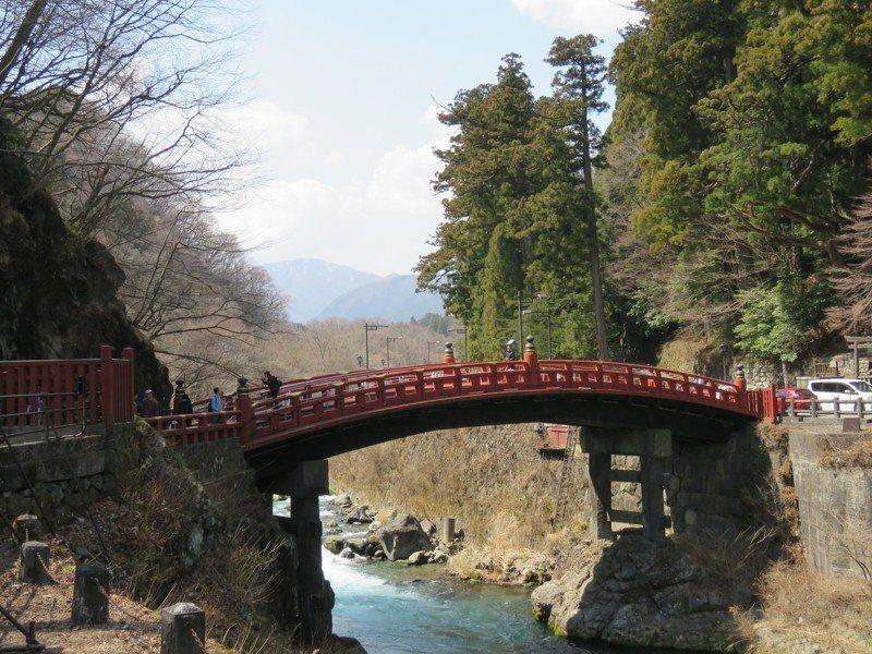 北關東三縣聯合行銷觀光,圖為栃木縣世界遺產之一的神橋。記者雷光涵/攝影