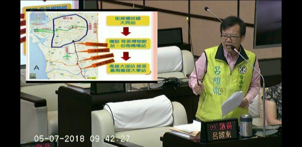台南市又將多一條捷運紅線連接高雄。 記者修瑞瑩/攝影