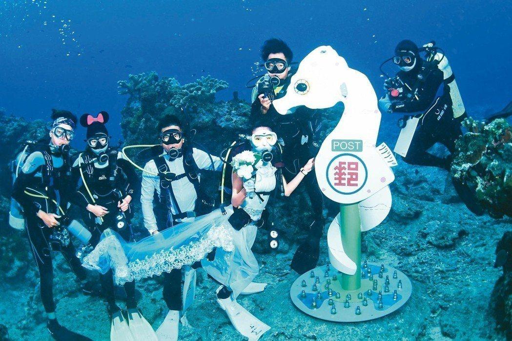 台灣離島如綠島,是許多遊客愛去浮潛的勝地。 圖/台東縣政府提供
