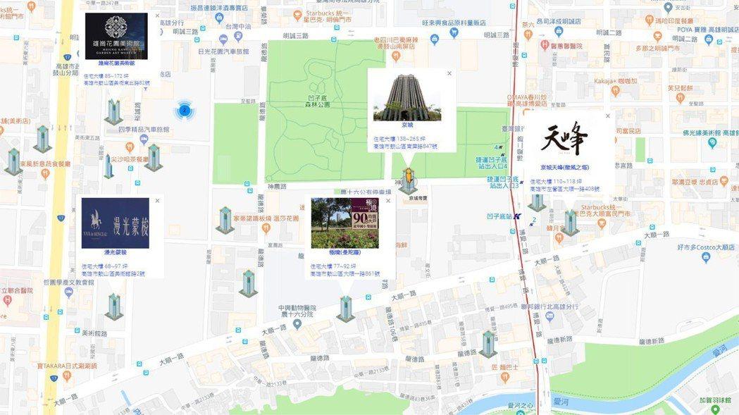 大心地圖新屋網結合Google Map將地產數據圖像化。 大心地圖新屋網提供