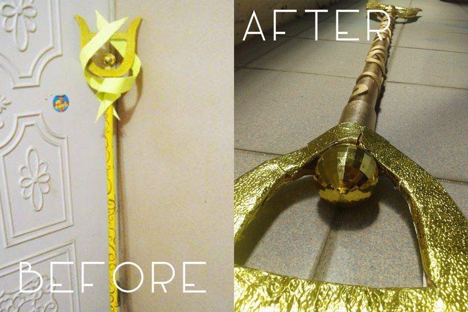 拉克絲的法杖,玎璫說那時候想運用手邊僅有的材料去製作,也是第一次製作道具。
