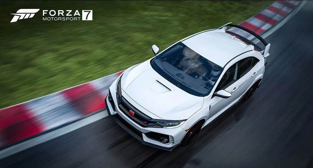 Honda Civic Type R FK8。 摘自Forza Motorsport 7