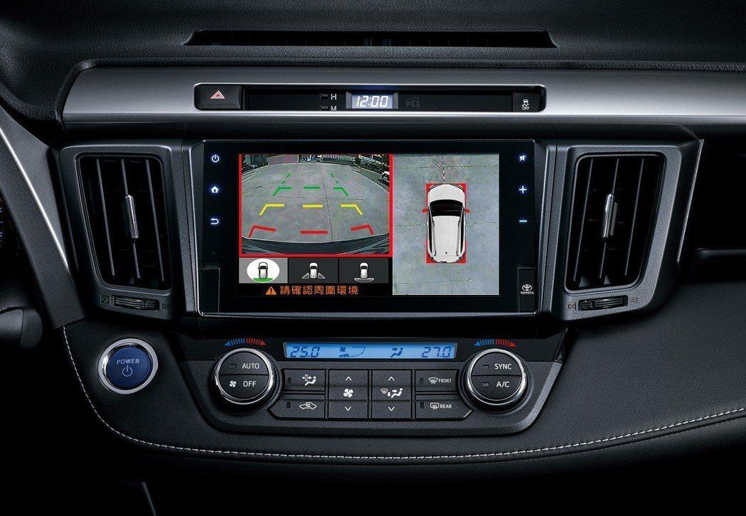 PVM環景影像輔助系統」360度的即時影像,讓駕駛者掌握車輛周圍視野。 圖/和泰汽車提供