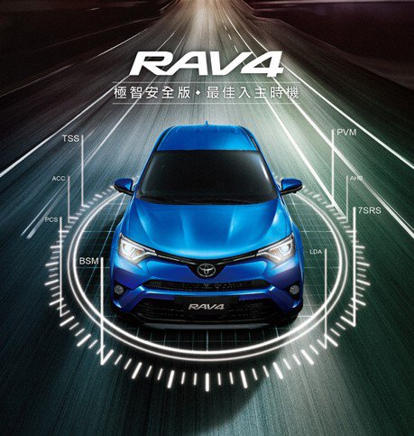 安全配備一次ALL IN TOYOTA RAV4 推極智安全版