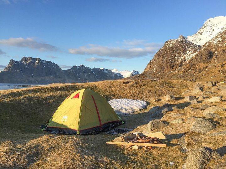 在挪威是可以野營的。 圖/背包客棧