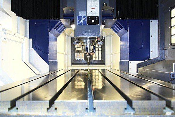 圖4 : 龍門銑床:搭配三合一驅動器,實現高精度、高乘載的多軸同動控制。提高運動...