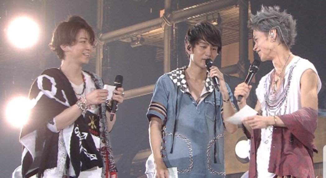 KAT-TUN在東京巨蛋演出時決定來台錄影。圖/摘自推特