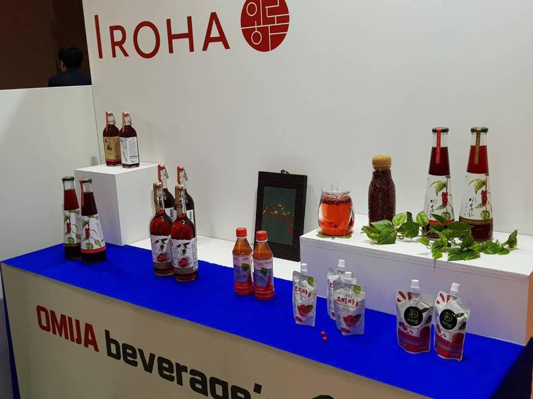 今年東京食品展中,含國大推保健植物五味子,做成各式飲品果汁果醋等,甚至南韓的星巴...