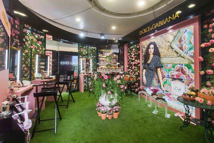 DOLCE & GABBANA「恬蜜花園快閃店」內有春季限量彩妝、香氛體驗服務。...